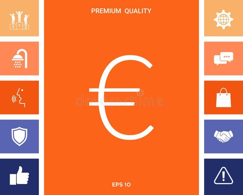 Euro symbol ikona royalty ilustracja