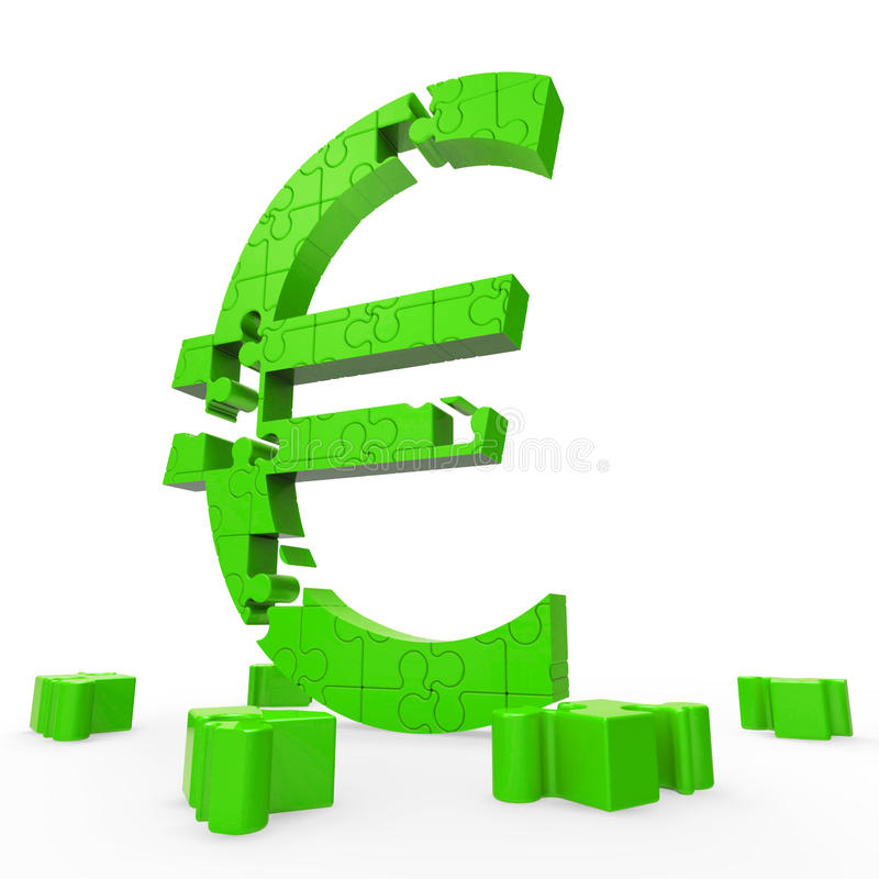 Download Euro Symbol Shows Financing In Europe Royalty Free Stock Images - Image: 28057409