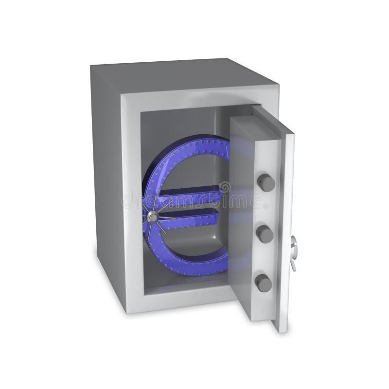 Download Euro Symbol Of Steel In A Safe Stock Illustration - Illustration of retail, money: 10223339