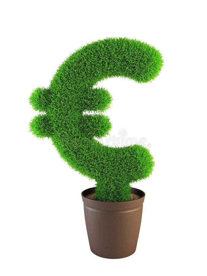Euro symbole croissant illustration stock