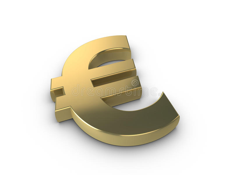 Euro symbole d'or illustration stock