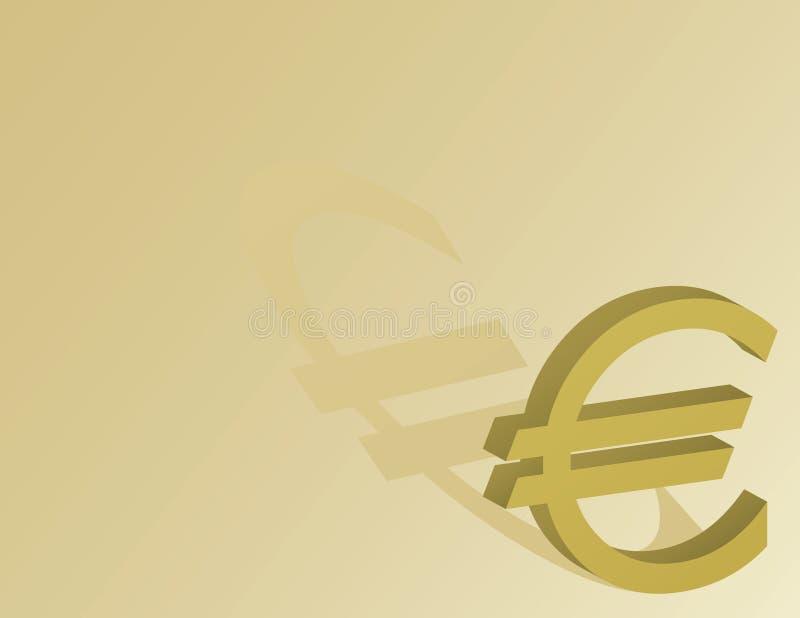 Euro symbole sur un fond d or