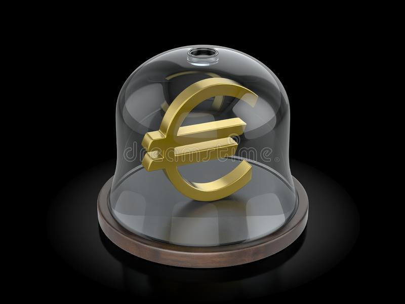 Euro symbole sous le dôme illustration de vecteur