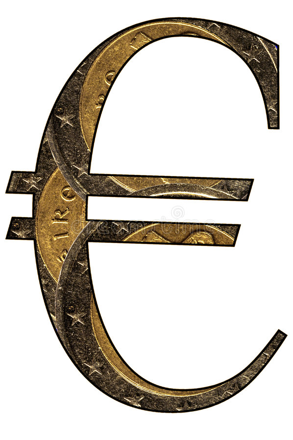 Euro Symbool royalty-vrije stock fotografie
