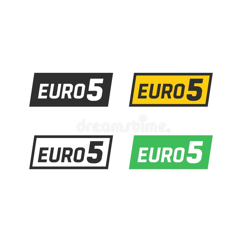Euro symbool 5 stock illustratie