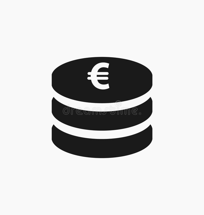Euro symbool Europees muntpictogram stock illustratie