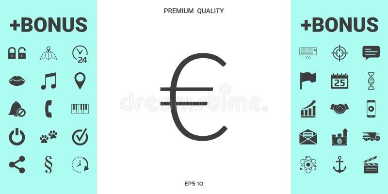 Euro symboolpictogram stock illustratie