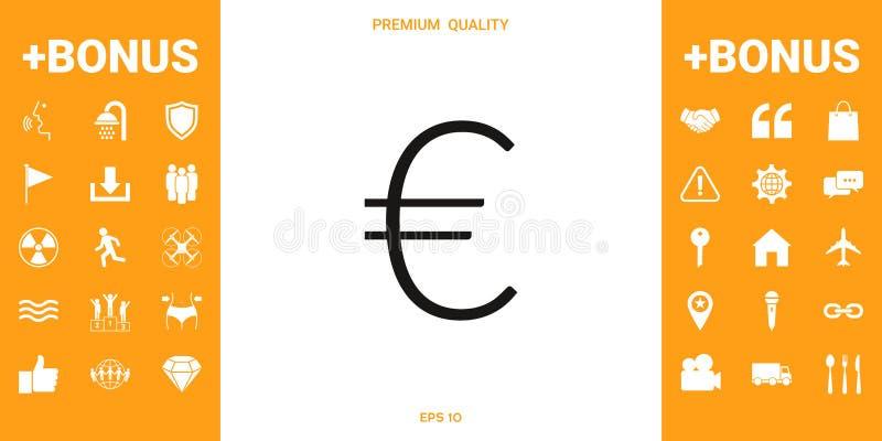 Euro symboolpictogram vector illustratie
