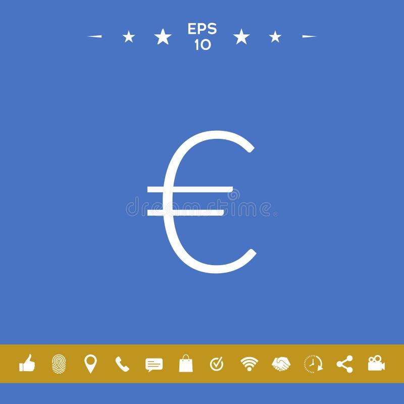 Euro symboolpictogram royalty-vrije illustratie