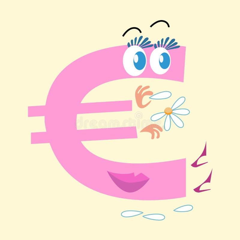 Euro szyldowa krajowa waluta Europa ilustracji