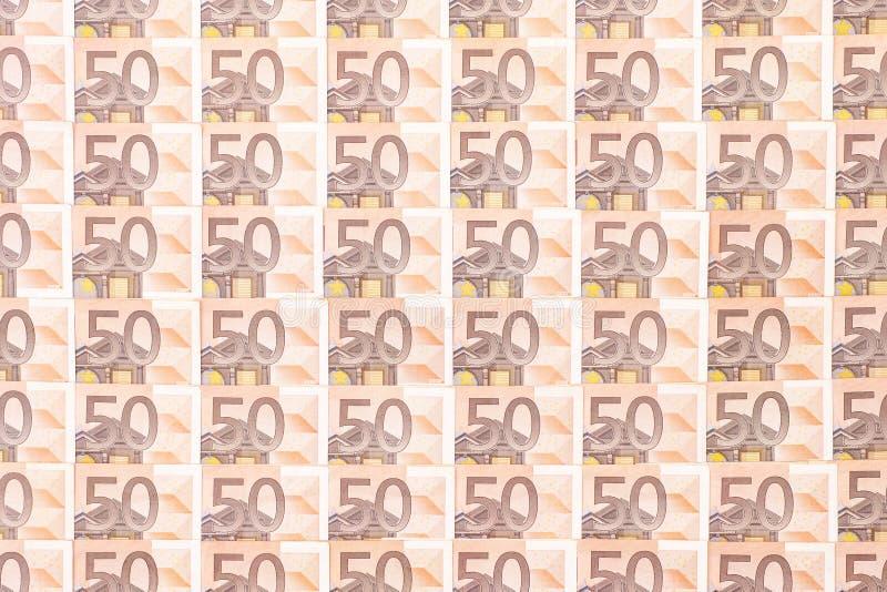 50 euro tła zdjęcie stock