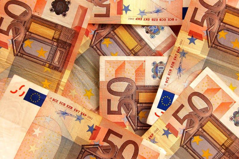 Euro tło fotografia stock
