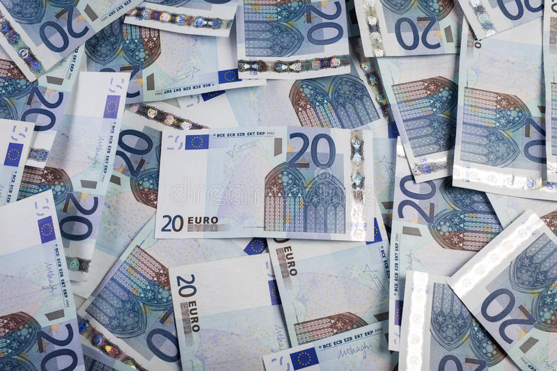 20 euro tło fotografia stock