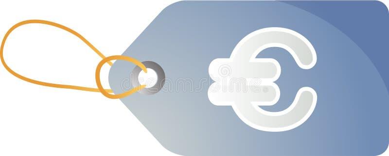Euro- Tag das vendas ilustração do vetor