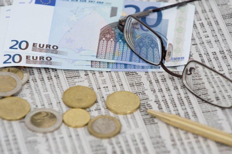 euro targowy pieniądze zapas zdjęcia stock