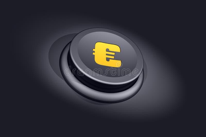 Euro tasto illustrazione di stock