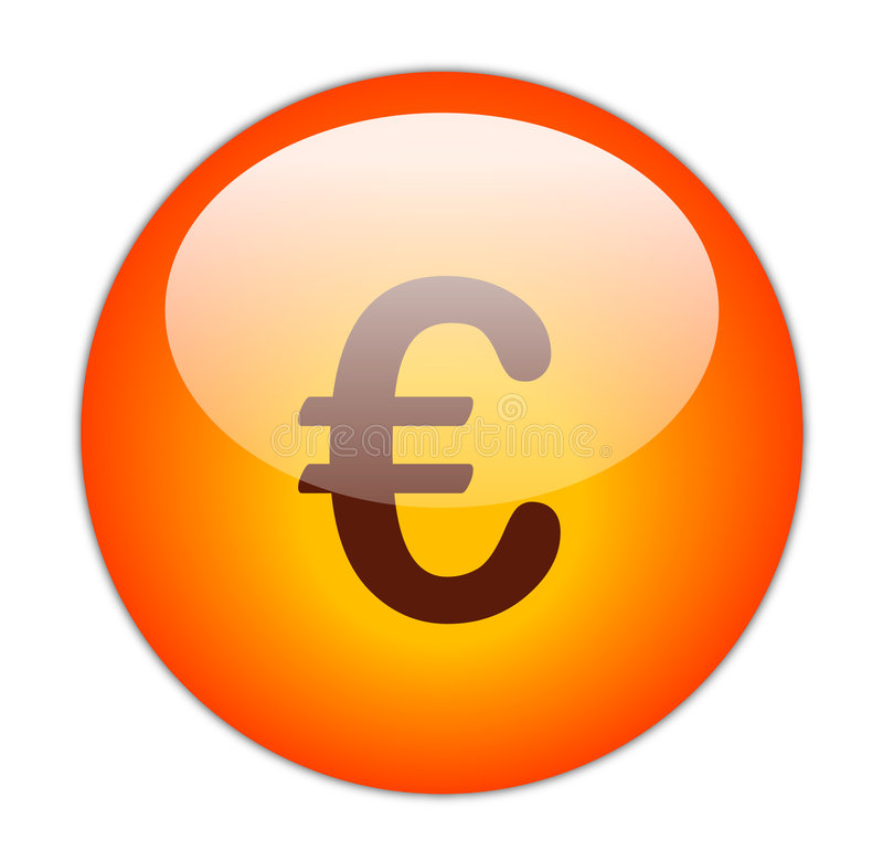 Euro- tecla ilustração stock