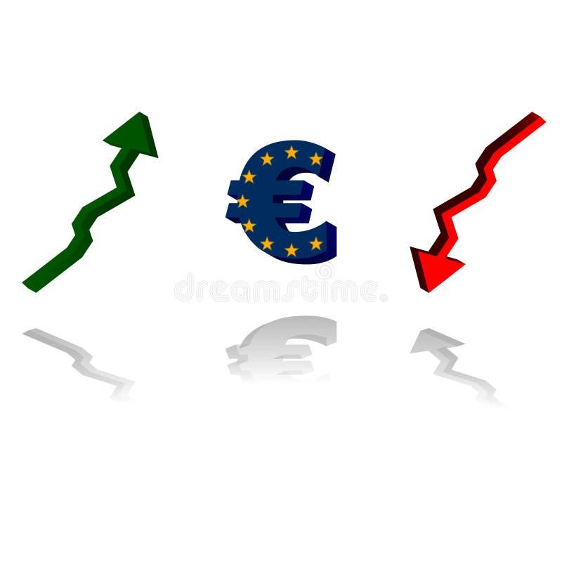 Euro tendance illustration de vecteur