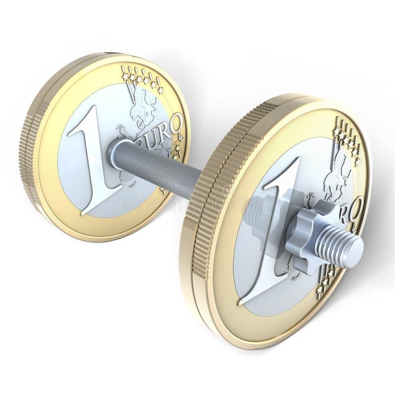 Euro testa di legno illustrazione vettoriale