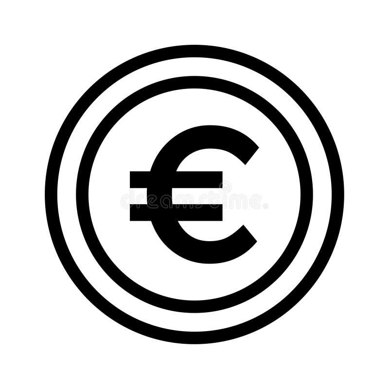 Euro icon royalty free illustration