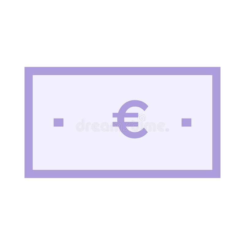 Euro icon stock illustration
