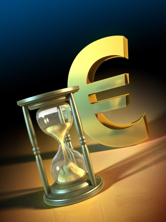 Euro tijd royalty-vrije illustratie