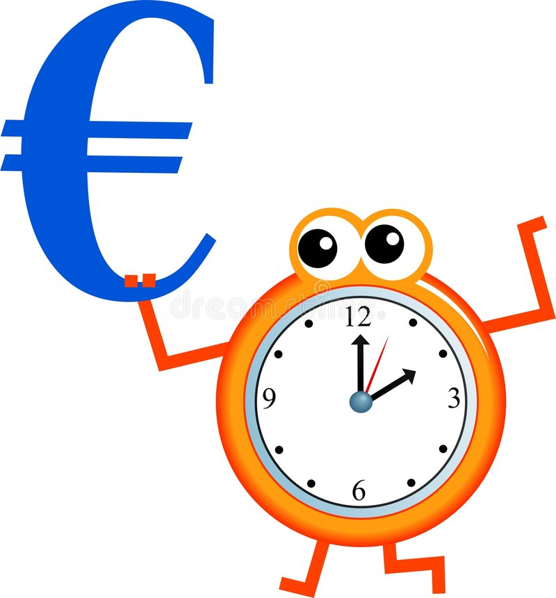 Download Euro time stock illustration. Image of hour, appointment - 7373413