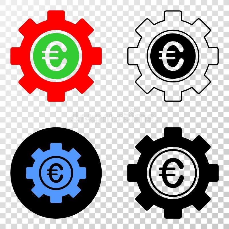 Euro Toestel Vectoreps Pictogram met Contourversie stock illustratie