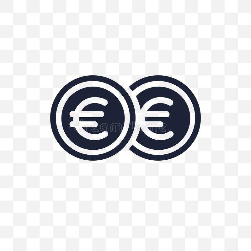 Euro transparent icon. Euro symbol design from Payment collection. vector illustration