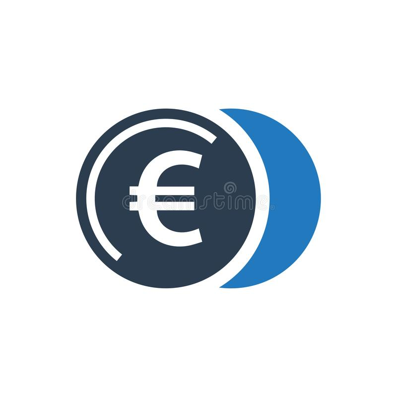 Euro ukuwa nazwę ikonę royalty ilustracja