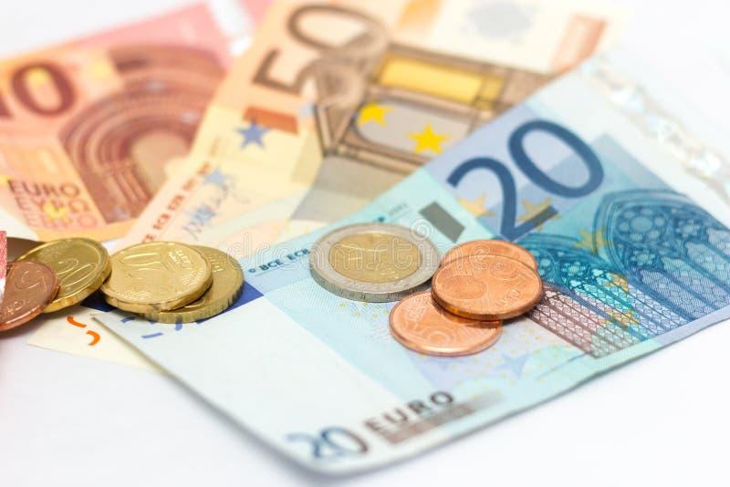 Euro ukuwa nazwę notatka pieniądze obraz stock