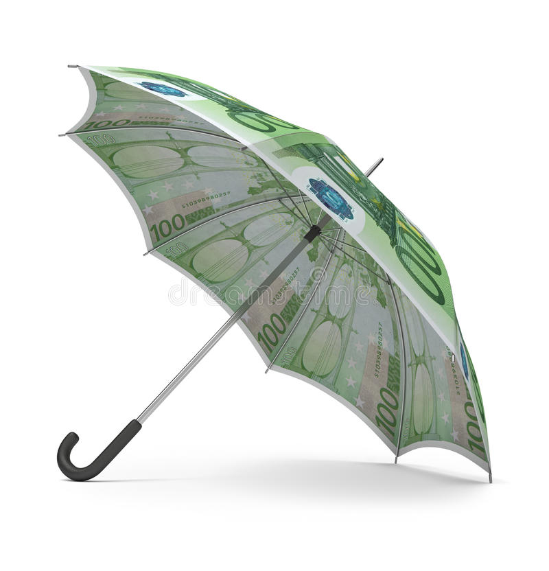 Euro umbrella royalty free illustration