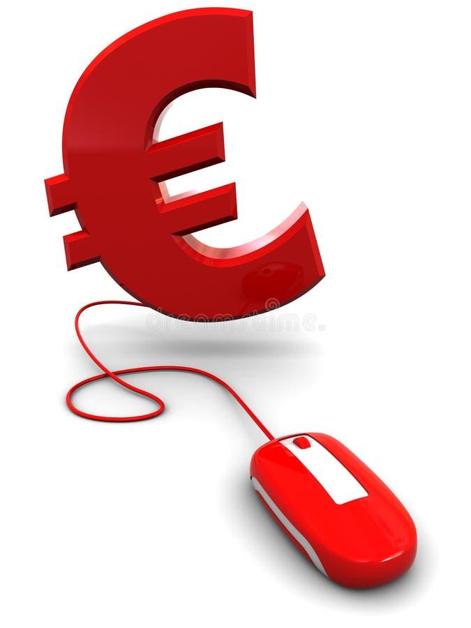 Euro- und Computermaus stock abbildung