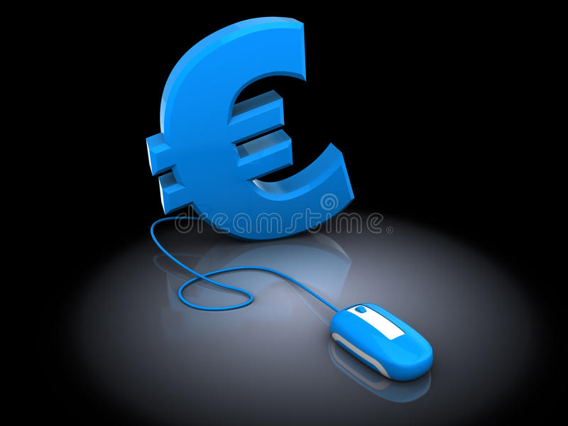 Euro- und Computermaus vektor abbildung
