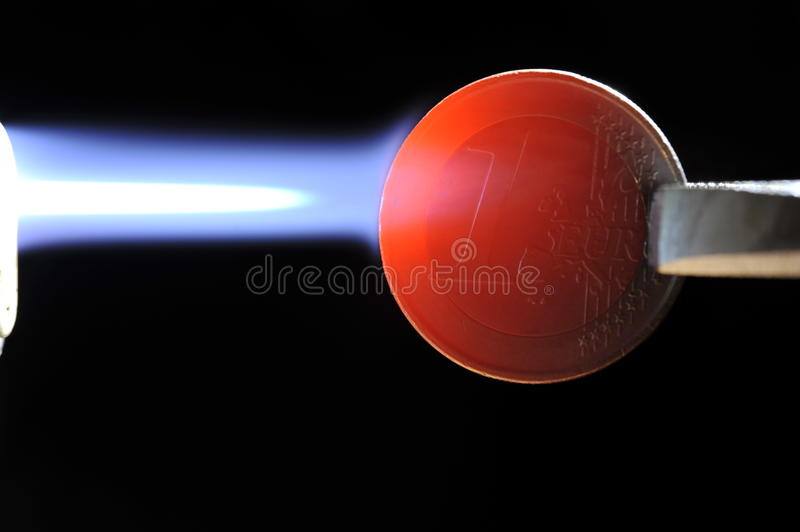 Download Euro Under Fire - Fully Glowing Stock Photography - Image: 23367722