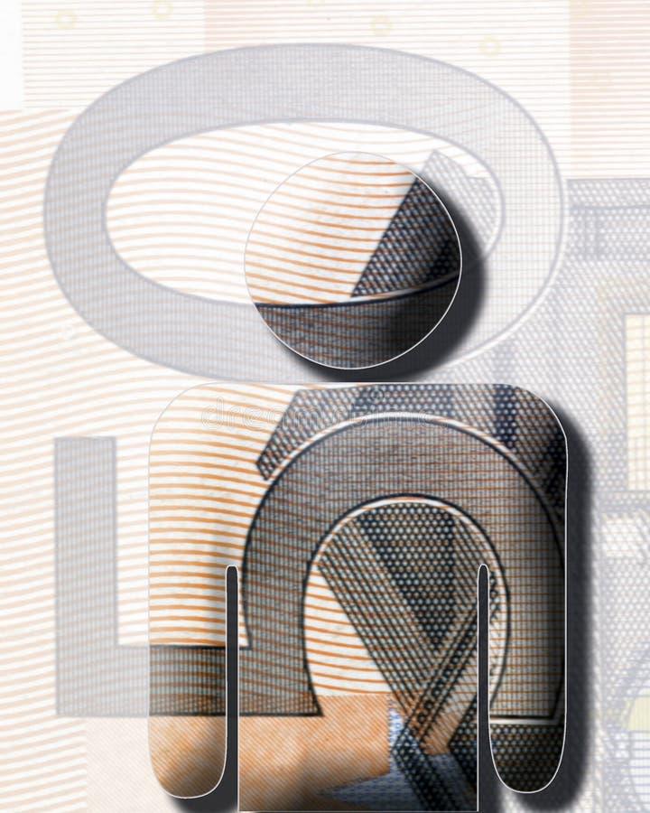 Euro uomo illustrazione di stock