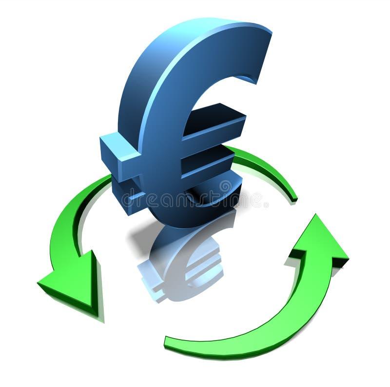 Euro verde ilustração royalty free