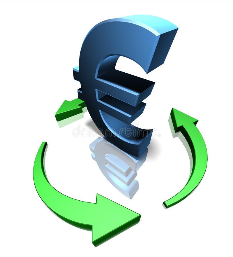 Euro verde ilustração stock