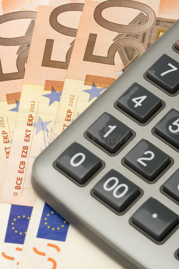 Euro vers le haut 2 proches photos libres de droits