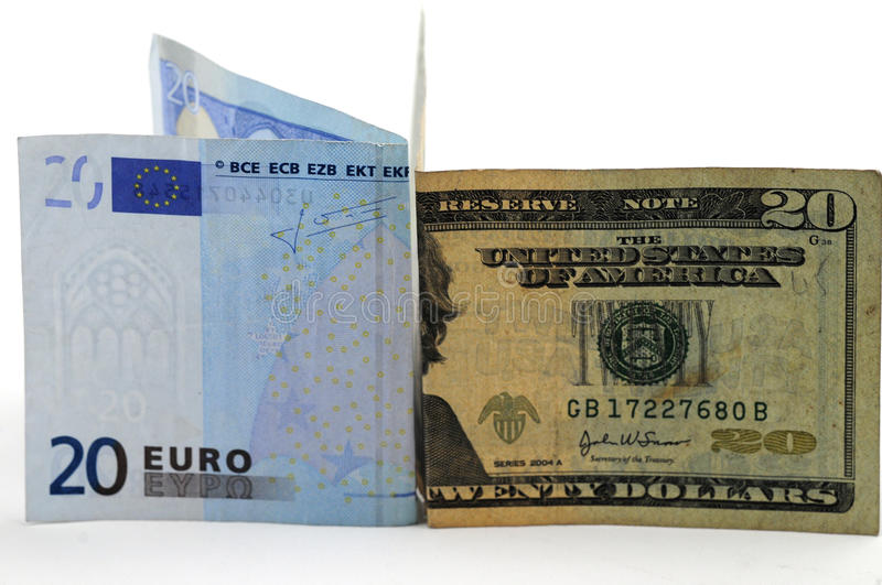 Download Euro versus dollar stock photo. Image of note, business - 13061394