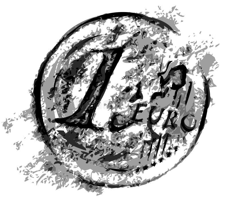Euro- vetor ilustração stock