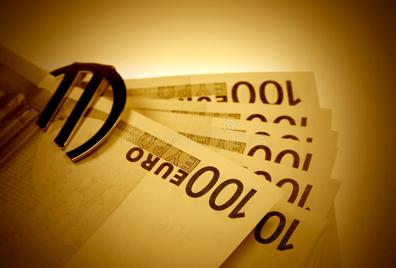 Euro In Vintage Style Stock Photography