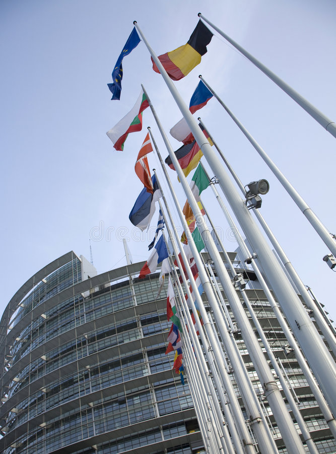 Euro Vlaggen stock afbeelding