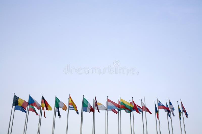 Euro Vlaggen stock afbeeldingen