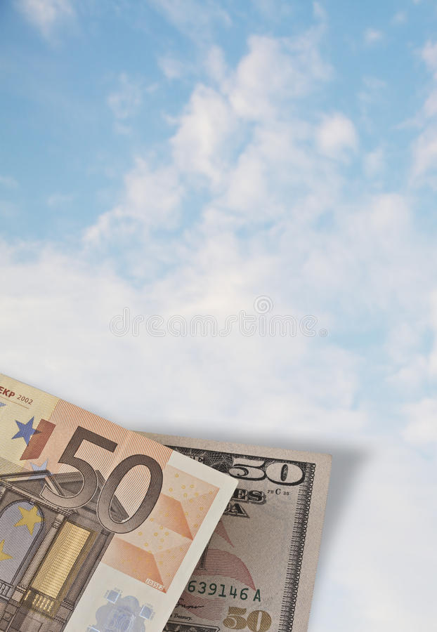 Euro vs Dollar royalty free stock image