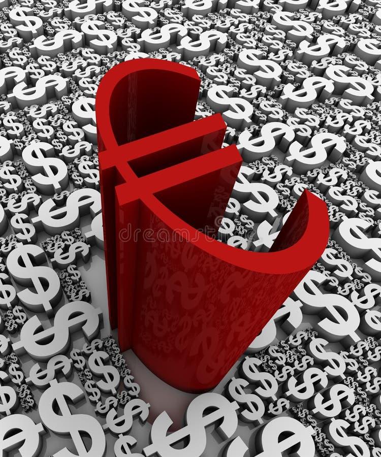 Download Euro vs Dollar stock illustration. Image of three, full - 22485761