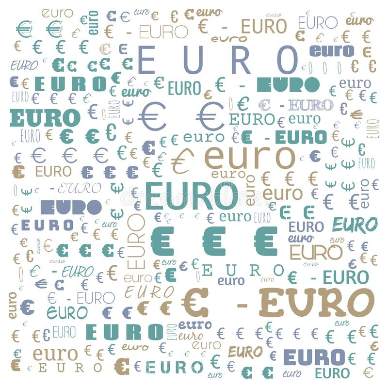 Euro word cloud,icon,word cloud use for banner, painting, motivation, web-page, website background, t-shirt & shirt printing,. Poster, gritting ( vector illustration