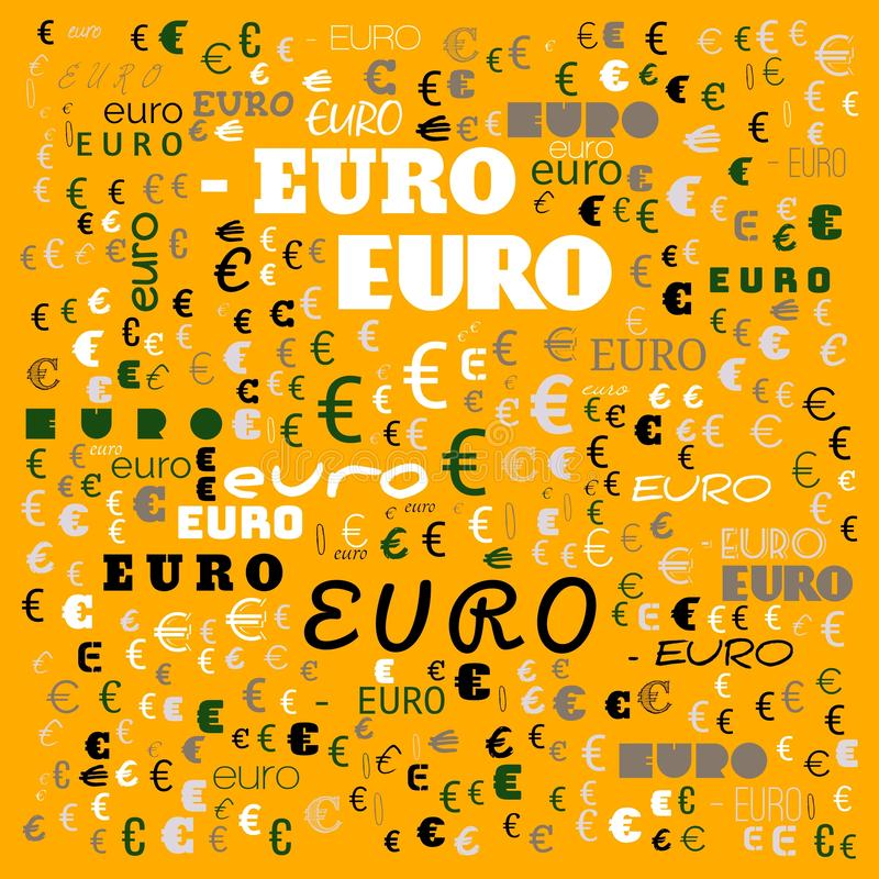Euro word cloud,icon,word cloud use for banner, painting, motivation, web-page, website background, t-shirt & shirt printing,. Poster, gritting ( stock illustration