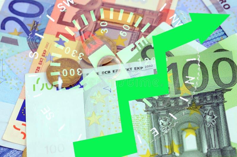 EURO wydźwignięcie fotografia stock