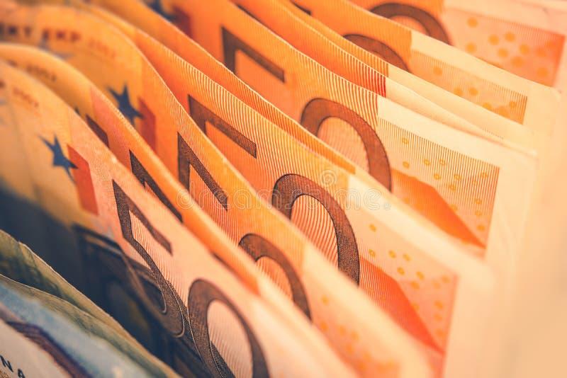 Euro Wystawia rachunek bankowość temat obrazy royalty free